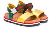 Gucci Kids metallic lug sole sandals