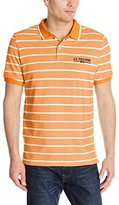 U.S. Polo Assn. Men's Embellished Pencil Stripe Polo Shirt