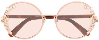 Jimmy Choo Eyewear gemstone round frame sunglasses