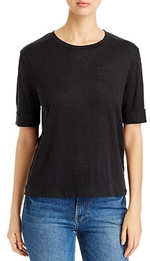 Majestic Filatures Cuffed Elbow-Sleeve Tee