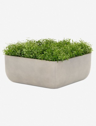 Lulu & Georgia Dena Indoor/Outdoor Large Square Planter, Grey
