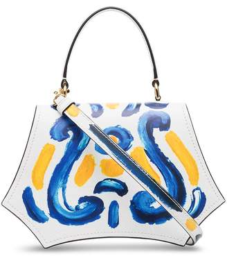 Moschino painted tote bag