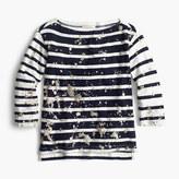 J.Crew Splatter-paint striped T-shirt