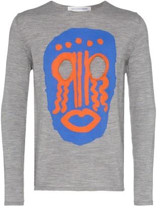 Comme des Garçons Shirt Mask Intarsia Wool Sweater