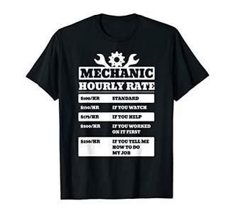 Funny Mechanic Shirt Car Mechanic Gift Hourly Labor Rate T-Shirt