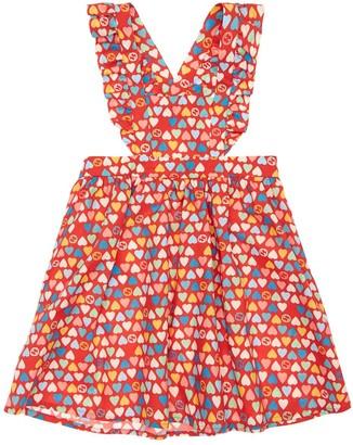 Gucci All Over Print Cotton Poplin Dress