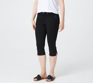 NYDJ Skinny Capri with Side Slits -Black