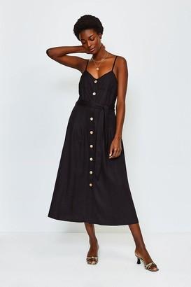 Karen Millen Linen Mix Strappy Dress