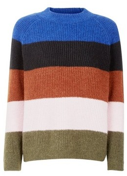 Dorothy Perkins Womens **Only Blue Striped Jumper, Blue