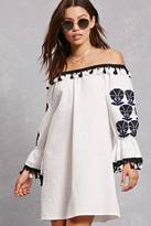 Forever 21 FOREVER 21+ Embroidered Shift Dress