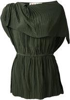 Marni crinkle asymmetric blouse - women - Silk/Acetate - 38