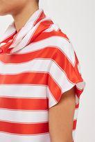 Boutique **silk satin stripe top