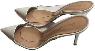 Gianvito Rossi Plexi White Plastic Heels