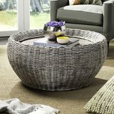 Safavieh Washed Round Wicker Coffee Table