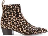 L'Autre Chose cheetah print ankle boots