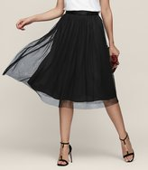 Reiss Crystal - Tulle Skirt in Black, Womens