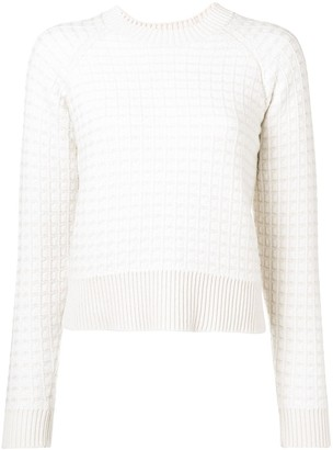 Barrie cashmere waffle-effect sweater
