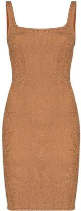 Hunza G Tank square-neck mini dress