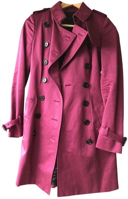 Burberry Purple Cotton Trench Coat for Women