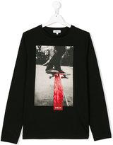 DKNY Teen skateboard logo print top