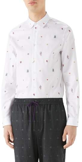 Gucci Iconic Elements Fil Coupe Sport Shirt