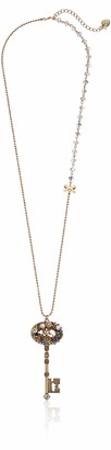 """Betsey Johnson Woven Clusters"""" Woven Cluster Key Long Pendant Necklace 31.0''"""