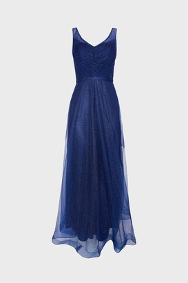 Coast Deep V Neck Glitter Maxi Dress