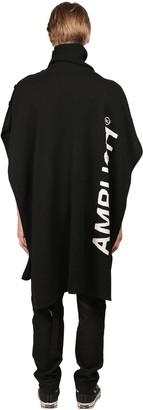 Ambush Logo Knit Wool & Nylon Knit Cape