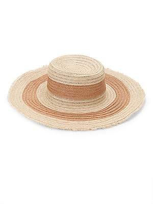 Raffaello Bettini Women's Raffaello Bettini Sisal Straw Large Pamela Wide Brim Hat
