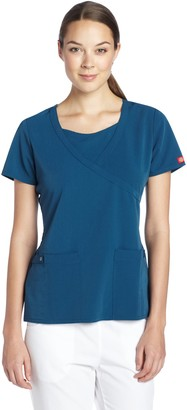 Dickies Scrubs Women's Xtreme Stretch Junior Fit Mock Wrap Top