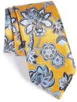 Ermenegildo Zegna Men's Floral Silk Tie
