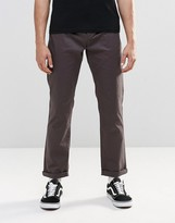 Asos Straight Chinos In Washed Black