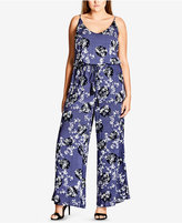 City Chic Trendy Plus Size Wide-Leg Jumpsuit