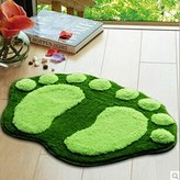 Ayouta Big Feet Cushion Non-slip Mat Pad Bedroom Decoration Rug Bath Area Rug Pad Carpet(Green)