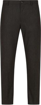 Dolce & Gabbana Pinstripe Stretch-Wool Trousers
