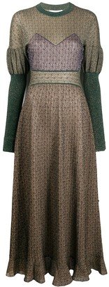 Chloé Knitted Long-Sleeve Dress