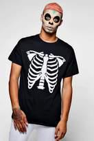 boohoo Halloween Skeleton Print T-Shirt black