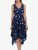 Thumbnail for your product : Gina Bacconi Marilla Floral Print Crepe Dress, Navy