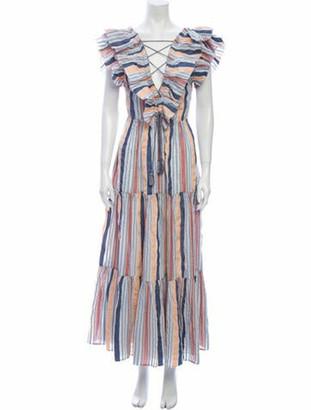 Ulla Johnson Striped Long Dress Blue