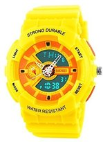 Jewtme fashion sports colorful young boys girls watches - yellow