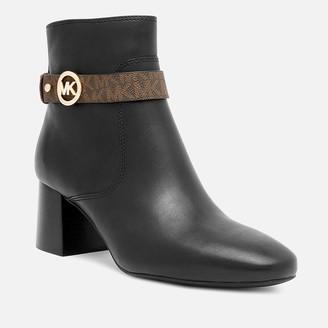 MICHAEL Michael Kors Women's Abigail Flex Leather Heeled Boots