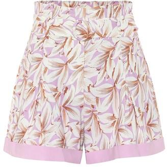 Jonathan Simkhai Lillan floral linen-blend shorts