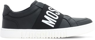 Moschino 25mm Leather Sneakers