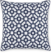 """Hotel Collection Embroidered Frame 18"""" Square Decorative Pillow, Created for Macy's"""