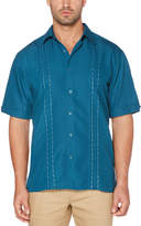 Cubavera Big & Tall Novelty Embroidered Panel Shirt