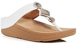 FitFlop Women's Leia Embellished Platform Thong Sandals