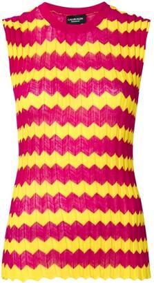 Calvin Klein Zig Zag Knitted Top