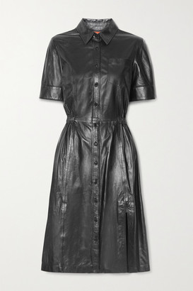 Altuzarra Kura Leather Shirt Dress - Black