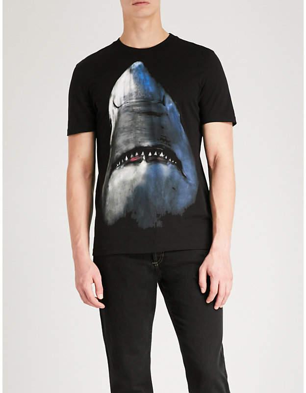 Givenchy Shark-print cotton-jersey T-shirt