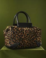 Brian Atwood Sophia Leopard-Print Calf Hair Satchel Bag